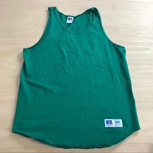 Russell Athletic Vintage Muscle Tank Lg Green
